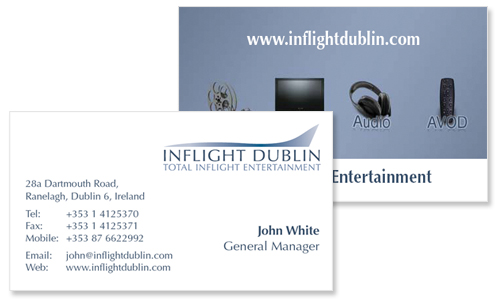 Business cards dublin sample portfolio business card design for entertainment company colourmoves
