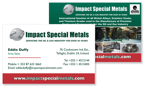 Business cards dublin sample portfolio business card sample for international metal company reheart Image collections